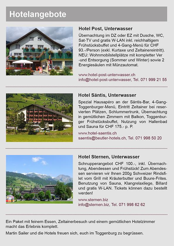 Hotel Sternen Pauschale Zeltainer